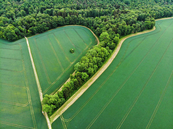 Photograph - Rural Green Germany Fields And Trees Aerial by Matthias Hauser