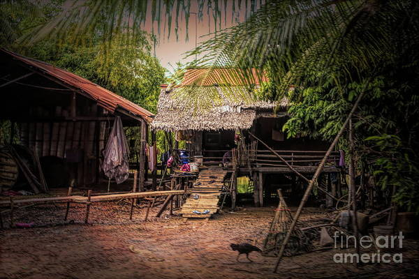 Mud House Photograph - Rural Home Off The Beaten Track Cambodia  by Chuck Kuhn