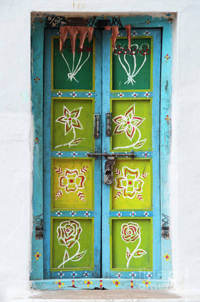 South India Photograph - Rural Indian House Doors by Tim Gainey