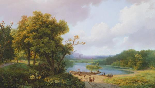 Distant Trees Wall Art - Painting - Rural Landscape by Barend Cornelis Koekkoek