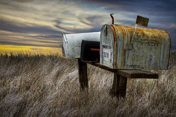 United States Postal Service Photograph - Rural Mailboxes On The Prairie by Randall Nyhof