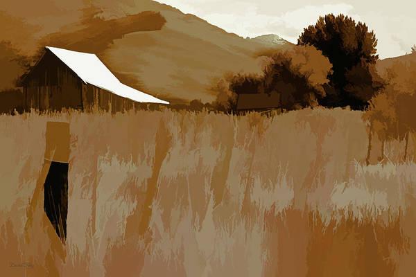 Digital Art - Rural Pop No 7 Barn In A Field by David King