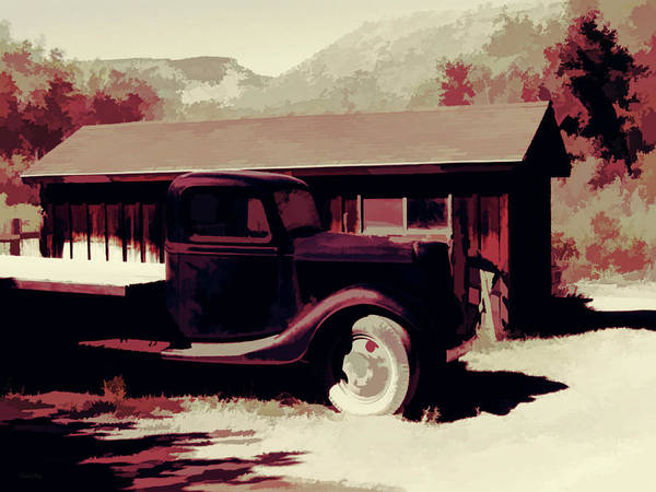 Capitol Digital Art - Rural Pop No 9 Shed And Old Ford Truck by David King