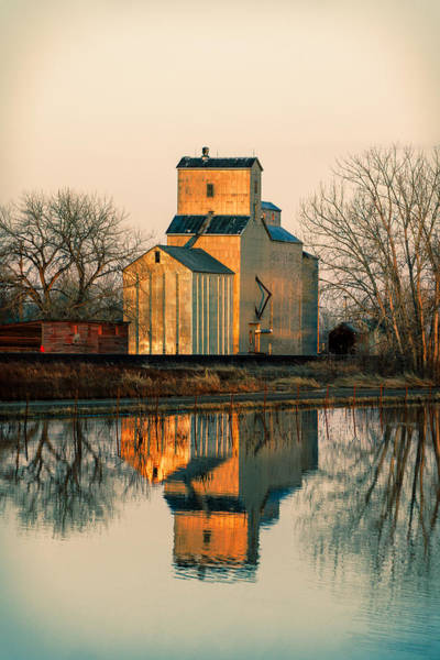 Stop Light Photograph - Rural Reflections by Todd Klassy