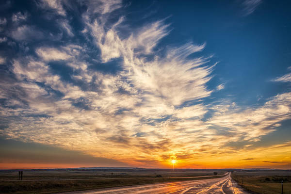 Photograph - Rural Road Sunset by Rikk Flohr