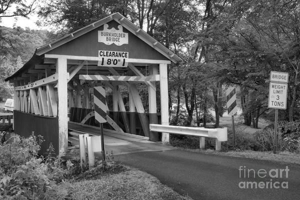 Garrett County Wall Art - Photograph - Rural Somerset Burkholder Bridge Black And White by Adam Jewell