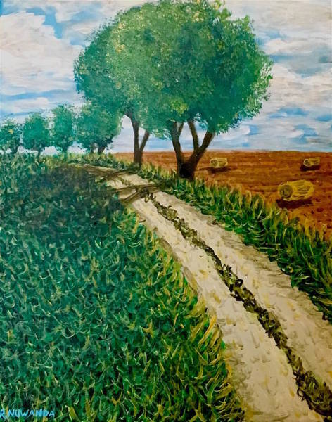 Murcia Painting - Rural Spanish Path by Robbie Potter