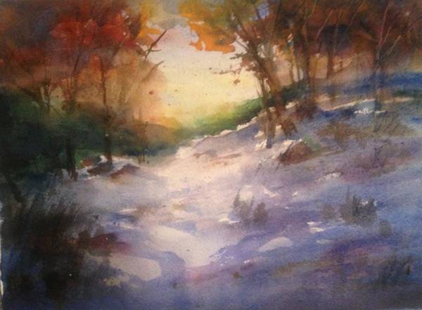Wall Art - Painting - Rural Spring by J Worthington Watercolors