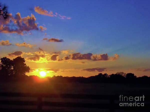 Photograph - Rural Sun Set by D Hackett