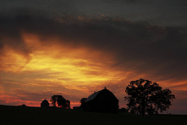 Photograph - Rural Sunset by CA  Johnson
