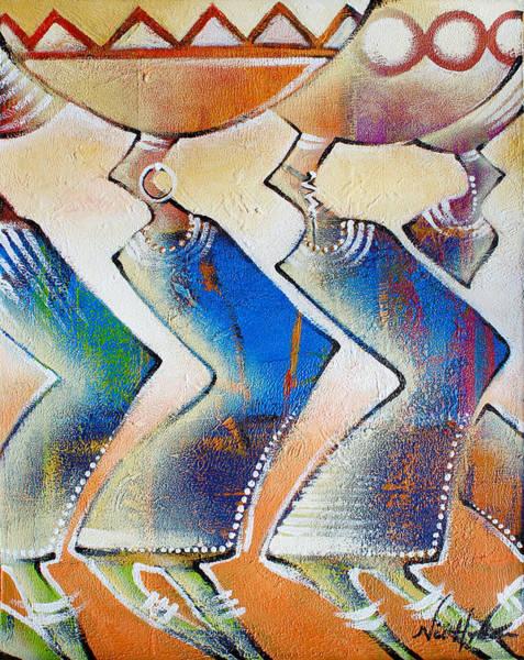 Painting - Rural Traders by Nii Hylton