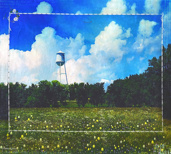 Photograph - Rural Water Tower Unconventional by Anna Louise