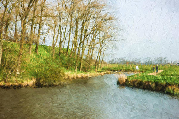 Sunny Mixed Media - Rural Winter Landscape - Painterly by Pati Photography