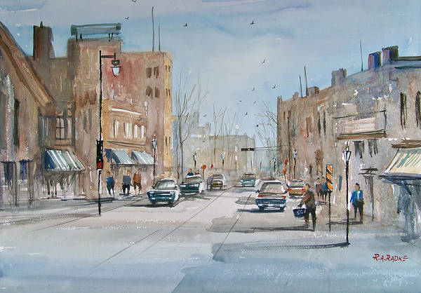 City Scene Painting - Rush Hour - Fond Du Lac by Ryan Radke