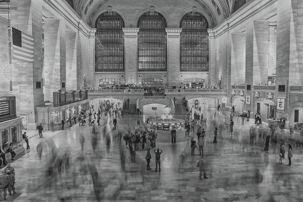 Grand Central Terminal Wall Art - Photograph - Rush Hour Grand Central St by Martin Newman