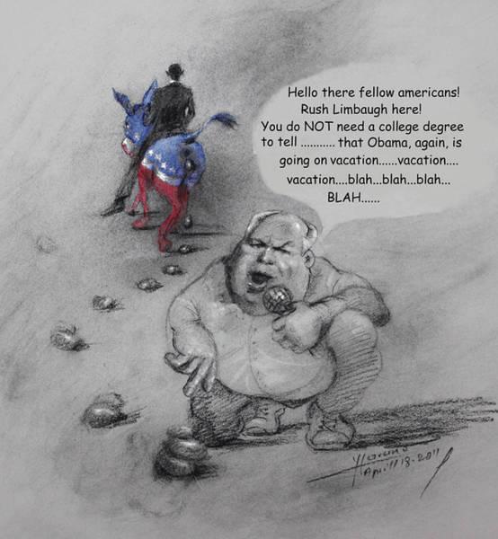 Wall Art - Mixed Media - Rush Limbaugh After Obama  by Ylli Haruni