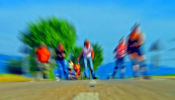 Roller Blades Photograph - Rush On Skates by Sascha Richartz