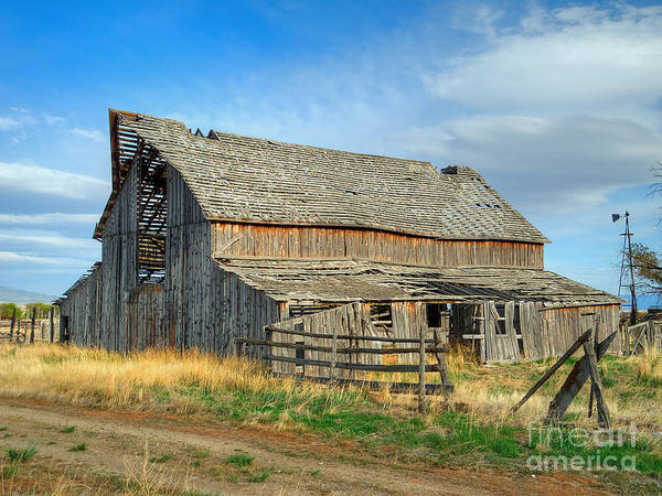 Photograph - Rush Valley Barn by Spencer Baugh