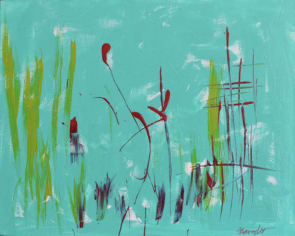 Wall Art - Painting - Rushes And Reeds by Paulette B Wright