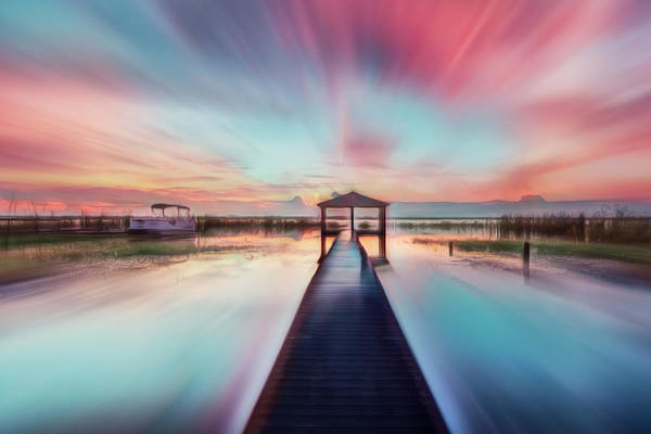 Photograph - Rushing Into Sunrise After The Rain  by Debra and Dave Vanderlaan