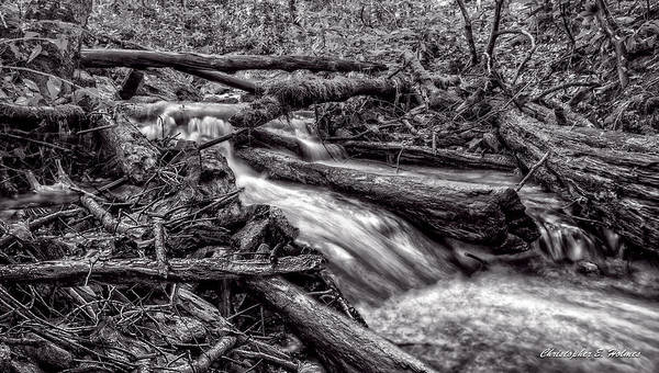 Wall Art - Photograph - Rushing Stream - Bw by Christopher Holmes