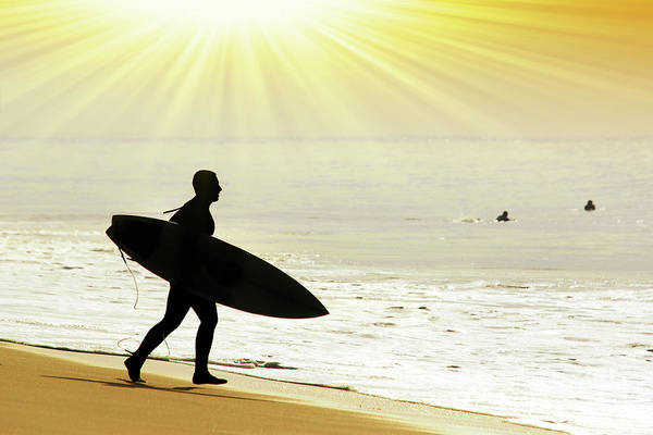 Wetsuit Wall Art - Photograph - Rushing Surfer by Carlos Caetano
