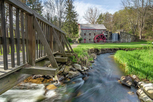 Rushing Water At The Grist Mill Art Print