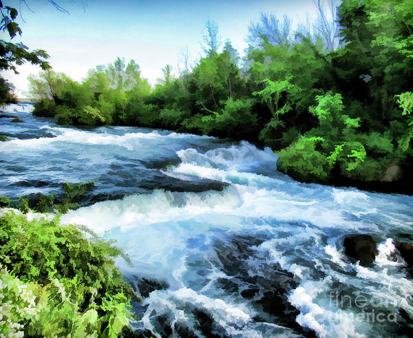 Photograph - Rushing  Blue Water In Creek Bed by Roberta Byram