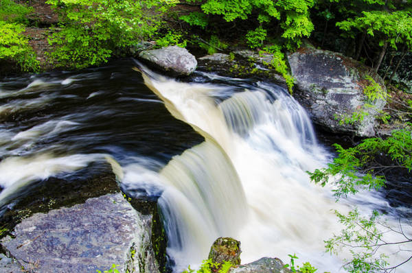 Pocono Mountains Wall Art - Photograph - Rushing Water On A Mountain Stream by Bill Cannon
