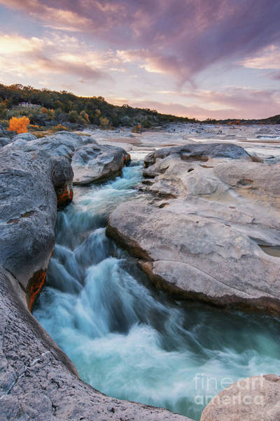Juniper Photograph - Rushing Waters At Pedernales Falls State Park - Texas Hill Country by Silvio Ligutti