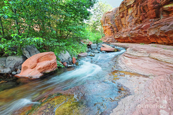 Photograph - Rushing Waters At Slide Rock State Park Oak Creek State Park - Sedona Northern Arizona by Silvio Ligutti