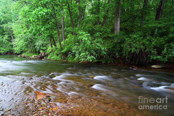 Photograph - Rushing Waters Of The Patapsco River Maryland by James Brunker