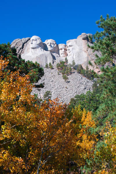 Photograph - Rushmore In Autumn by Rikk Flohr