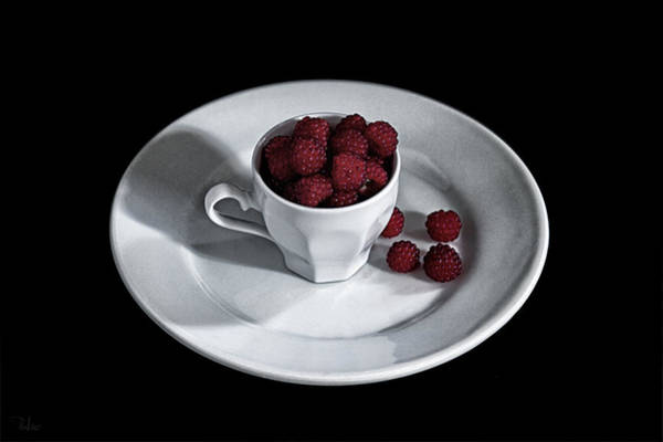 Photograph - Ruspberries In The Cup - Livid Still-life by Raffaella Lunelli