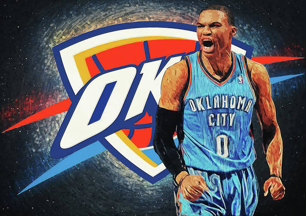 Digital Art - Russell Westbrook by Zapista Zapista
