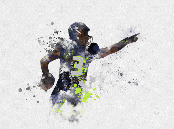 Wall Art - Mixed Media - Russell Wilson by My Inspiration