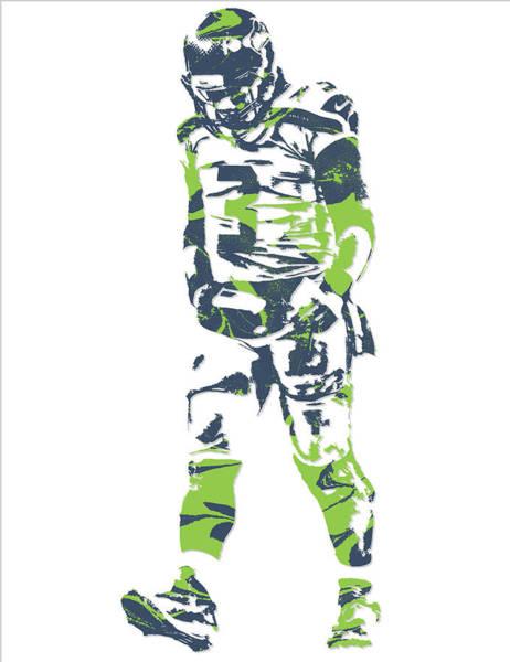 Wall Art - Mixed Media - Russell Wilson Seattle Seahawks Pixel Art 11 by Joe Hamilton