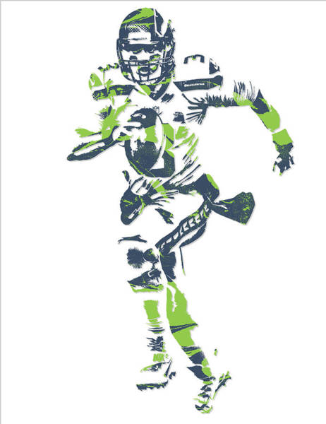 Super Bowl Mixed Media - Russell Wilson Seattle Seahawks Pixel Art 14 by Joe Hamilton