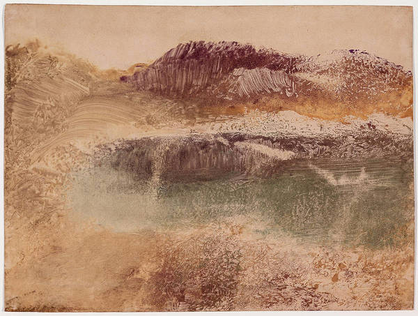 Wall Art - Painting - Russet Landscape 1890 by Edgar Degas