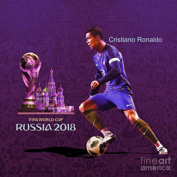 Super Cup Wall Art - Painting - Russia 2018 Football World Cup  by Gull G