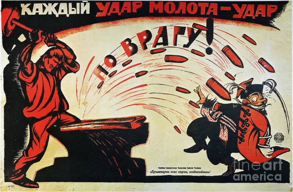 Photograph - Russia: Anti-capitalist Poster, 1920 by Granger