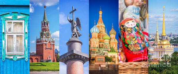 Wall Art - Photograph - Russia Collage by Delphimages Photo Creations
