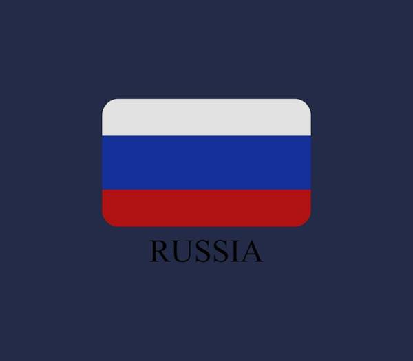 Blue Digital Art - Russia Flag by Marco Livolsi
