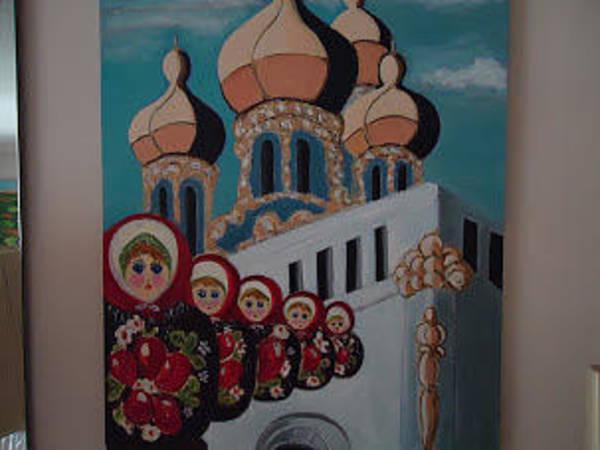 Wall Art - Painting - Russia by Selma Falk
