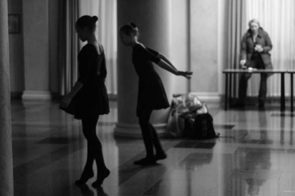 Photograph - Russian Ballerinas Warming Up by John Williams