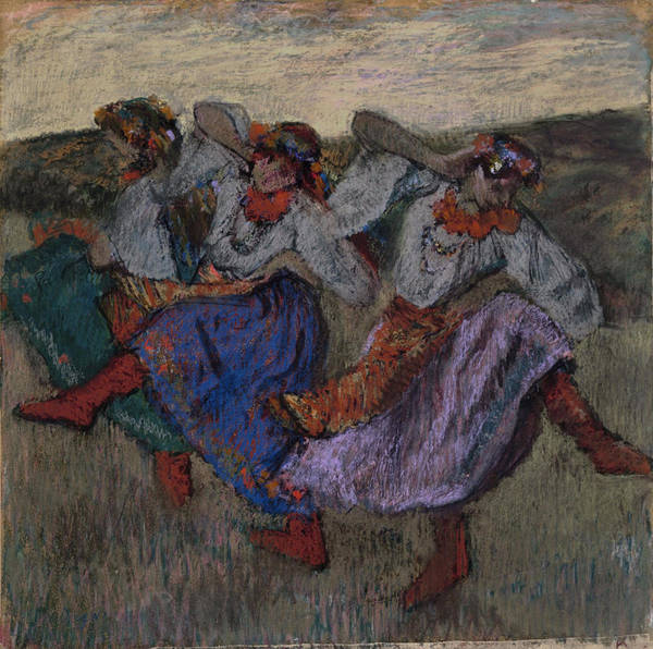 Russian Impressionism Wall Art - Painting - Russian Dancers  1899 by Edgar Degas