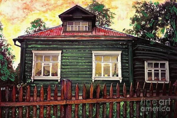 Fence Mixed Media - Russian House 2 by Sarah Loft