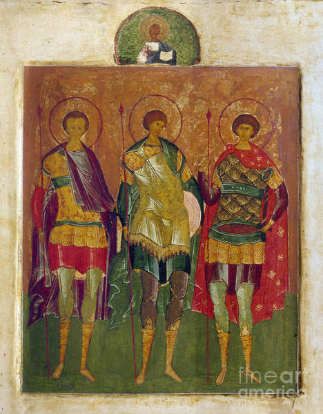 Photograph - Russian Icon: Saints by Granger