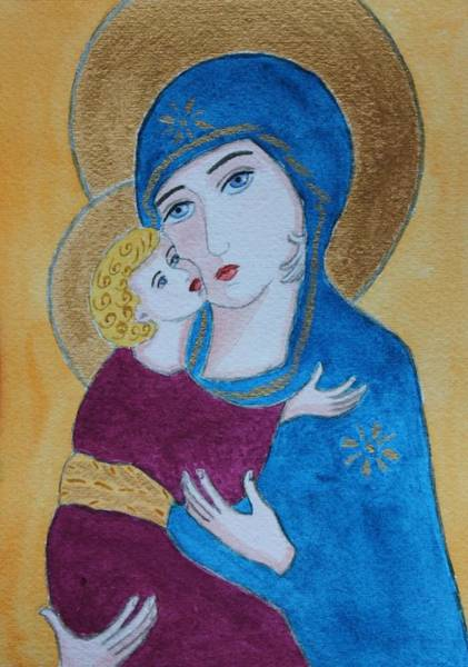 Painting - Russian Madonna by Vera  Smith