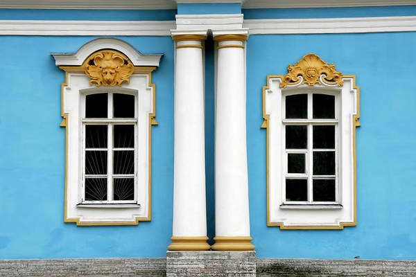 Photograph - Russian Palace Windows by KG Thienemann